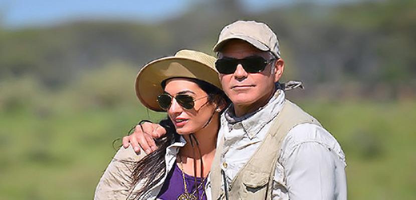 george clooney George Clooney y Amal Alamuddin no esperan un bebé
